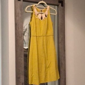 Form fitting jcrew chartreuse dress. Size 2